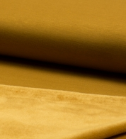 Modal jersey fabric with fleece mustard yellow