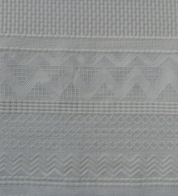 Broderie lace african natural white