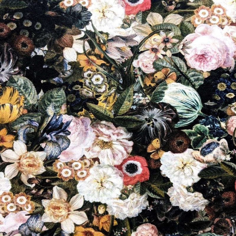 Puuvillatrikotaaž digiprindiga barokk