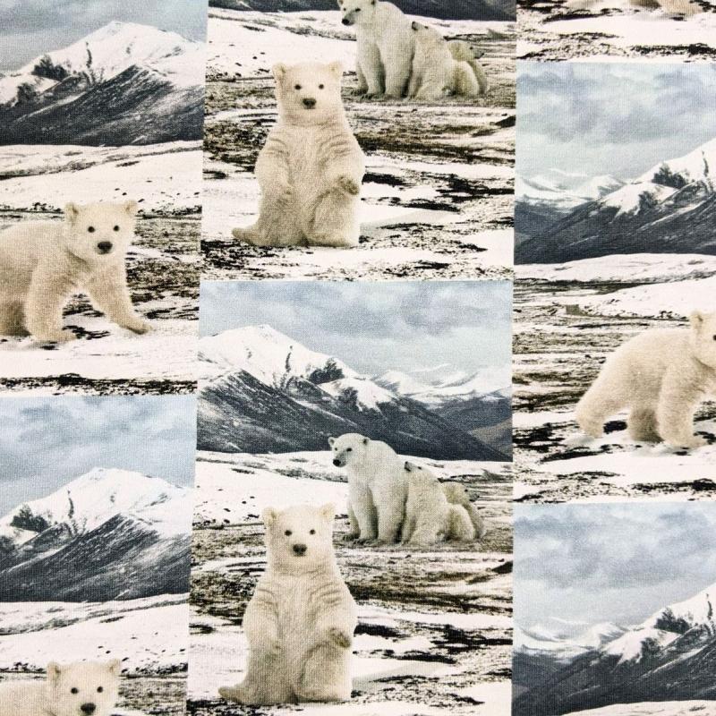 Puuvillatrikotaaž digiprindiga jääkarud