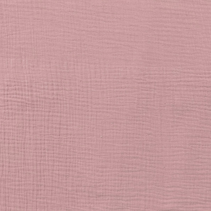 Puuvillakrepp roosa (musliin)
