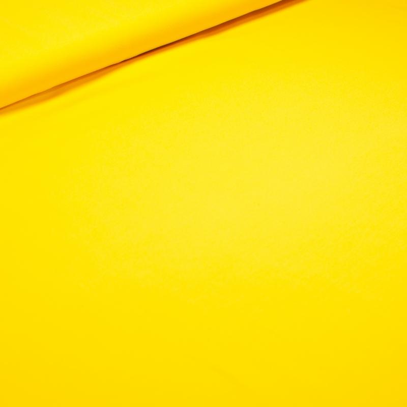 Puuvillatrikotaaž kollane (230g)