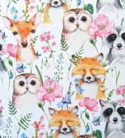 Cotton jersey cute animals GOTS