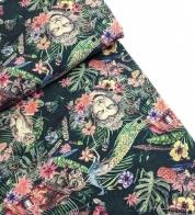Digiprint cotton jersey Buddha GOTS
