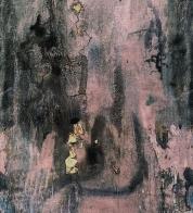 Puuvillatrikotaaž digiprindiga abstraktne roosa