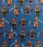 Digiprint cotton jersey robots