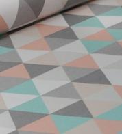 Home decor fabric pastel triangles