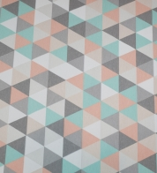 Home decor fabric pastel triangles