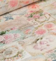 Home decor fabric roses