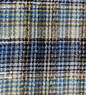 Tweed (buklee) squared blue