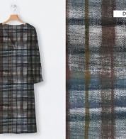 Linen fabric squared (stonewash)