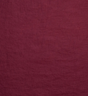 Thin linen fabric burgundy (stonewash)