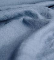 Linane kangas hele teksasinine (kivipesu)
