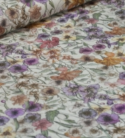 Linen fabric meadow flower (stonewash)