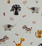 Digiprint cotton jersey safari