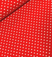Digiprint cotton jersey dots red