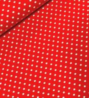 Puuvillatrikotaaž polka dot punane