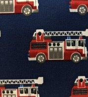 Digiprint cotton jersey fire trucks