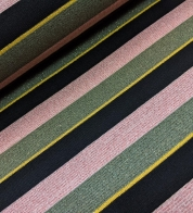 Viscose jersey glitter stripes