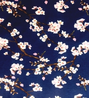 Modal jersey cherry blossoms