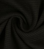 Cotton waffle knit black