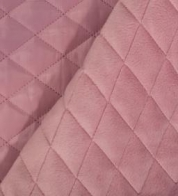 Quilted fabric with wadding pink