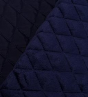 Quilted fabric with wadding blue