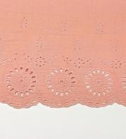 Broderii musliin virsiku roosa (portega)