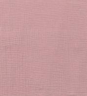 Puuvillakrepp roosa (musliin) GOTS