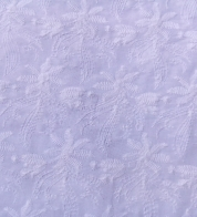 Broderie lace floral white