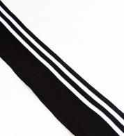 Rib black with silver stripes