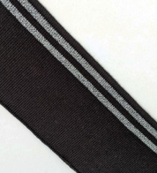 Rib black with silver stripes