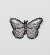 Iron-on application gray butterfly