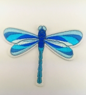 Iron- on application blue dragonfly