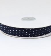 Puuvillane diagonaalkant (15 mm) sinine täpiline