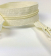 2- way zipper (4mm) natural white