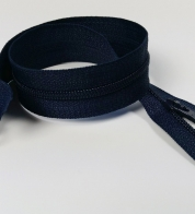2- way zipper (4mm) dark blue
