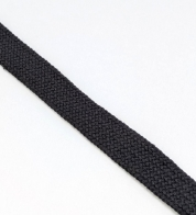 Cotton string black ( 18 mm) flat