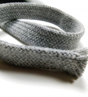 Cotton string gray mottled ( 18 mm) flat