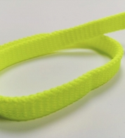Ribbon neon yellow ( 12 mm) flat
