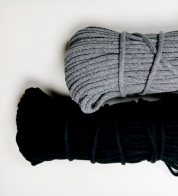 Cotton string melange gray ( 5 mm)
