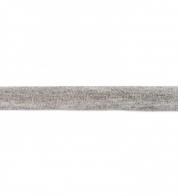 Jersey bias binding melange gray